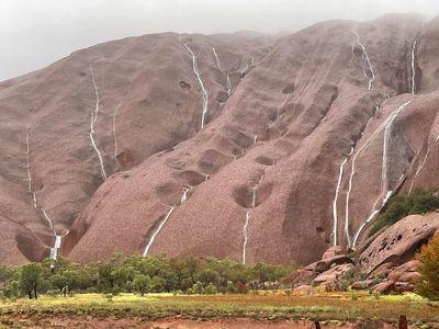 Waterfalls at Uluru