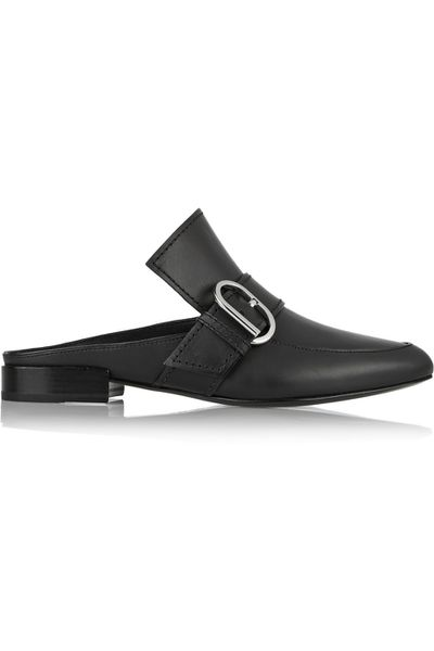 "<a href=""https://www.net-a-porter.com/au/en/product/648951/31-Phillip-Lim/Louie-leather-slippers?"" target=""_blank"">Loafers, $670, 3.1 Phillip Lim at Net-a-Porter.com</a>"