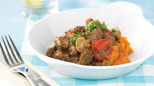 Braised beef and mushroom