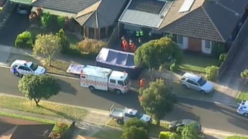Emergency services at the scene this afternoon. (9NEWS)