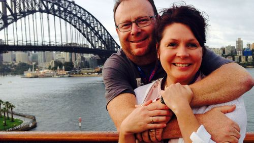 Kyle and Janene O'Neill were both struck down with gastro caught on board the Celebrity Solstice.