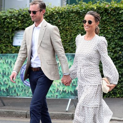 Pippa Middleton and husband James at Wimbledon, July 2018.