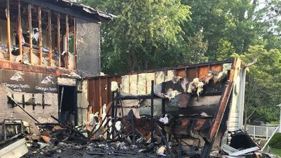 Coral and Matthew Denakis watched as their family home burned down hours before their wedding.