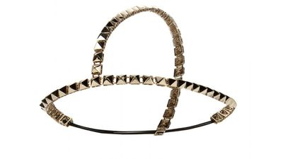 "<a href=""http://www.mytheresa.com/en-au/studded-hairband.html"" target=""_blank"">Studded Hairband, $509, Valentino</a>"