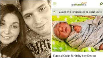 The couple allegedly set up a Go Fund Me page to get money to pay for the child's funeral.