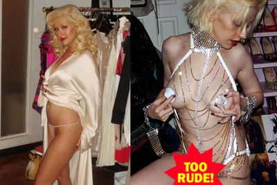 These private pics were reference shots intended for XTina's stylist's eyes only. D'oh!