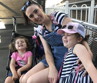After having her second daughter Sydney, two, Sam became practically housebound due to her ulcerative colitis bowel disease
