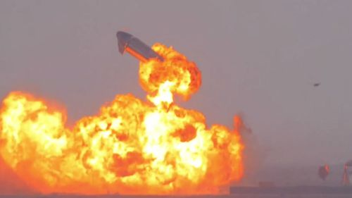 SpaceX rocket explodes after landing.