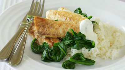 "<a href=""http://kitchen.nine.com.au/2016/05/16/15/55/spicy-fish-with-spinach-and-yogurt"" target=""_top"">Spicy fish with spinach and yogurt</a>"