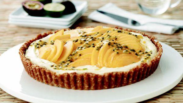 Best lime mascarpone and mango tart