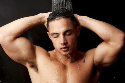 Taking long, hot showers