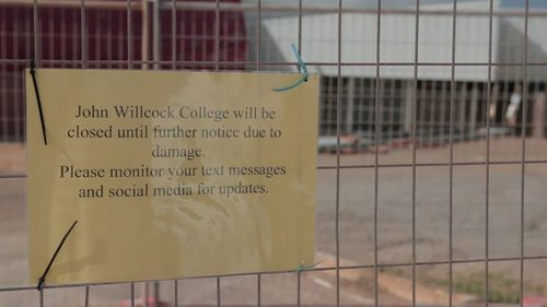 The school has been forced to cancel classes. Picture: 9NEWS