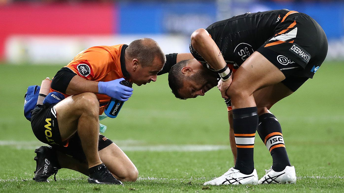 'He deserves a lot better': Heartbreak as Benji Marshall's Tigers career ends in injury