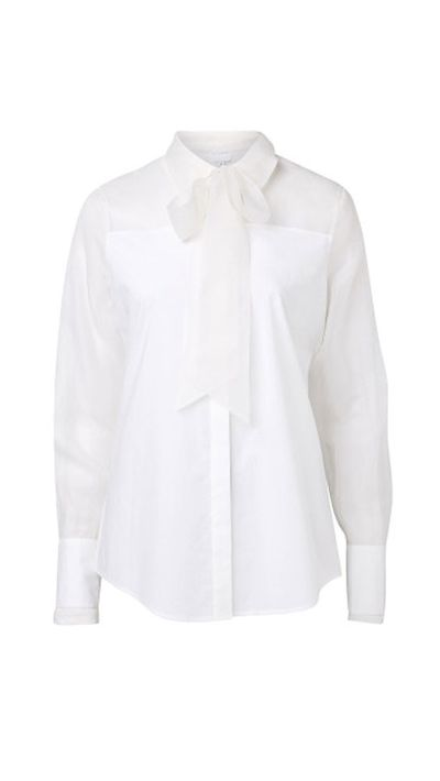 "<a href=""http://www.witchery.com.au/shop/new-in/woman/ocrf-white-shirts/60179488/OCRF-Pussy-Bow-Shirt.html"">Pussy Bow Shirt, $149.95, Witchery</a>"