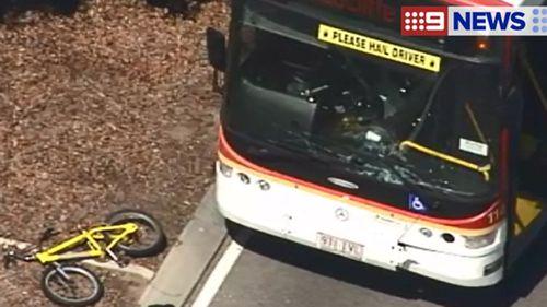Queensland boy 'had no brakes, no helmet' when hit by bus: Police