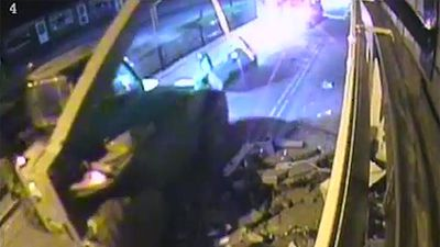 <p>Members of an English criminal gang that used an excavator to steal almost $600,000 from 12 ATMs in a series of smash and grab attacks have been convicted.<!-- p--> </p><p> Joseph Upton, John Smith, Albert Smith, John Christopher Smith and Alfred Stanley all pleaded guilty to conspiracy to burgle over the spate of robberies conducted during a nine-month period between January and October 2012, ITV reports.</p> <p>The pair were convicted on Friday and will be sentenced at a later date.</p> <p>A just-released video shows the gang using a digger to smash open a wall to get to an ATM before masked men sling a chain around it and use the excavator to place the cash machine in a waiting vehicle.</p> <p>The sophisticated operation shows that ATM robberies have come a long way over the years.</p> <p>Click through to see bungling bandits tip ATMS on top of themselves and set themselves on fire as we take a look at the evolution of ATM heists.</p>