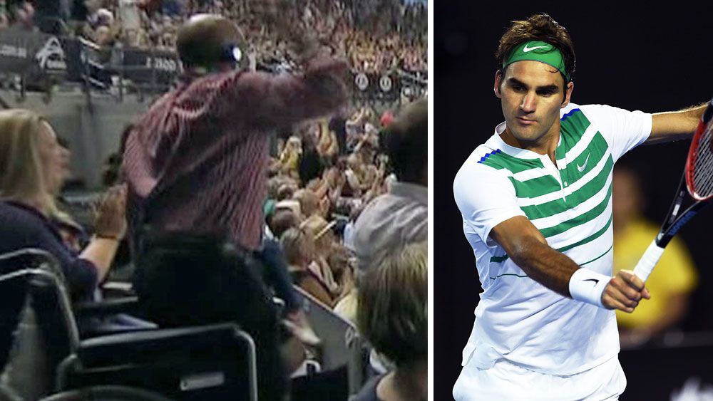 Federer's miracle shot helps man rise from wheelchair