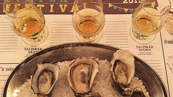 Oysters and whisky