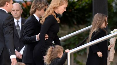 The superstar couple were joined by their children Faith and Sunday Rose as well as the children of sister Antonia, and Antonia's husband Craig.