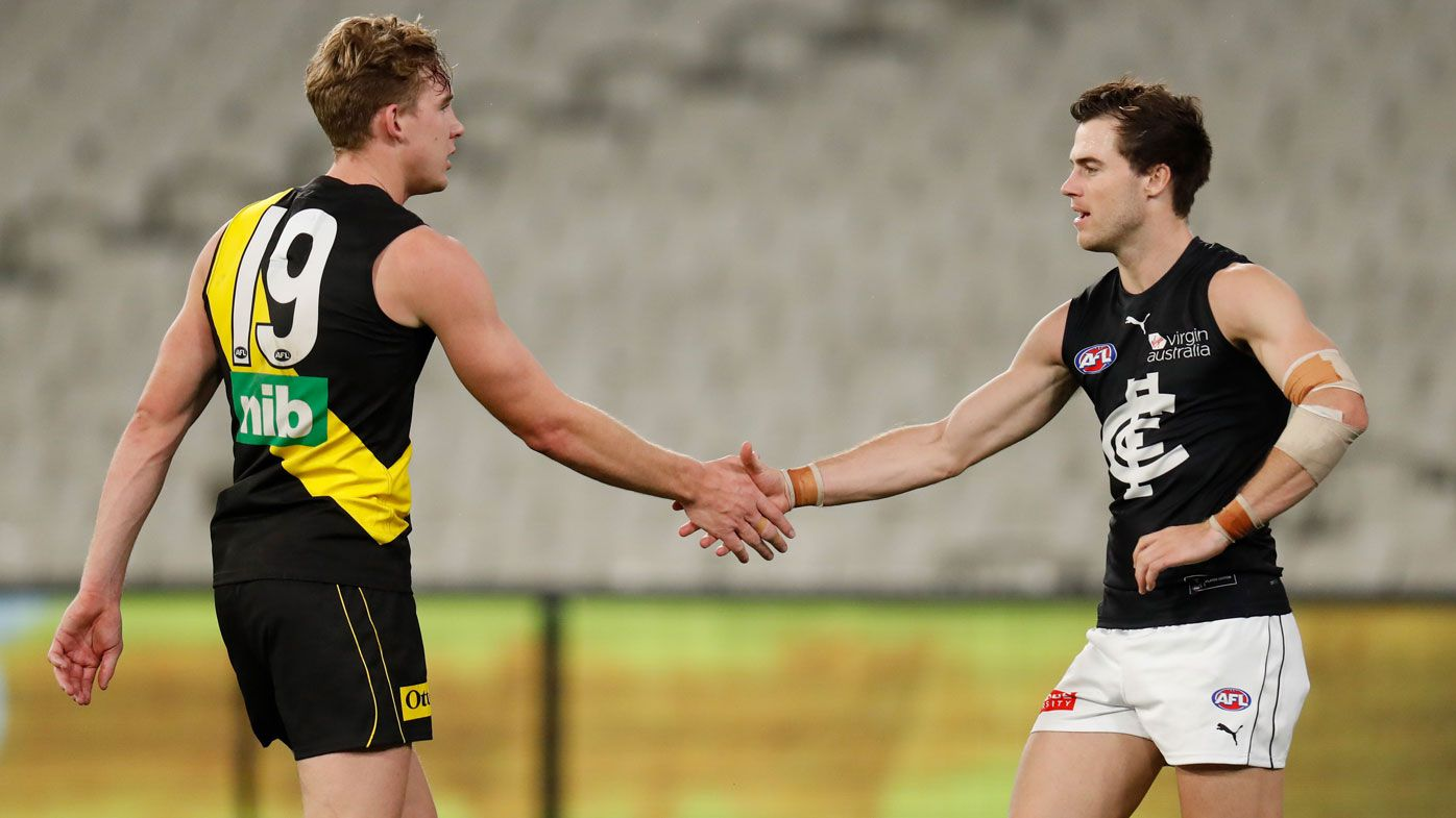 AFL's handshakes, high-five and hugging headache amid coronavirus measures