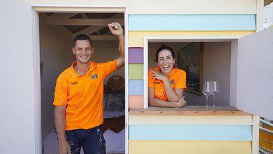 Brighton Beach Box challenge reveals: Luke and Jasmin. The Block 2020
