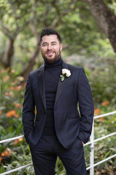 James' wedding day turtleneck
