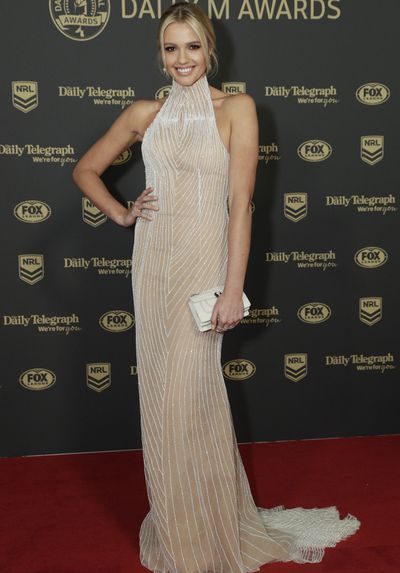 Gemma Barge at the 2019 Dally M Medal