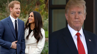 The Duke and Duchess of Sussex with Donald Trump