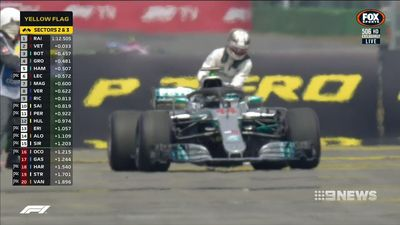 Vettel's crash hands Hamilton championship lead