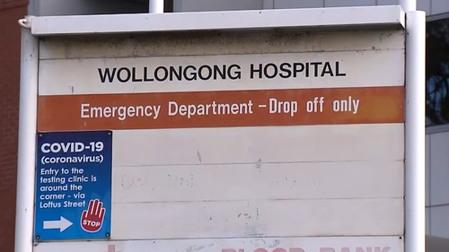 The paramedic was allegedly assaulted outside Wollongong Hospital.