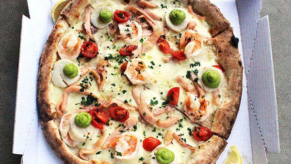Stefano Manfredi's marinara Australiana pizza