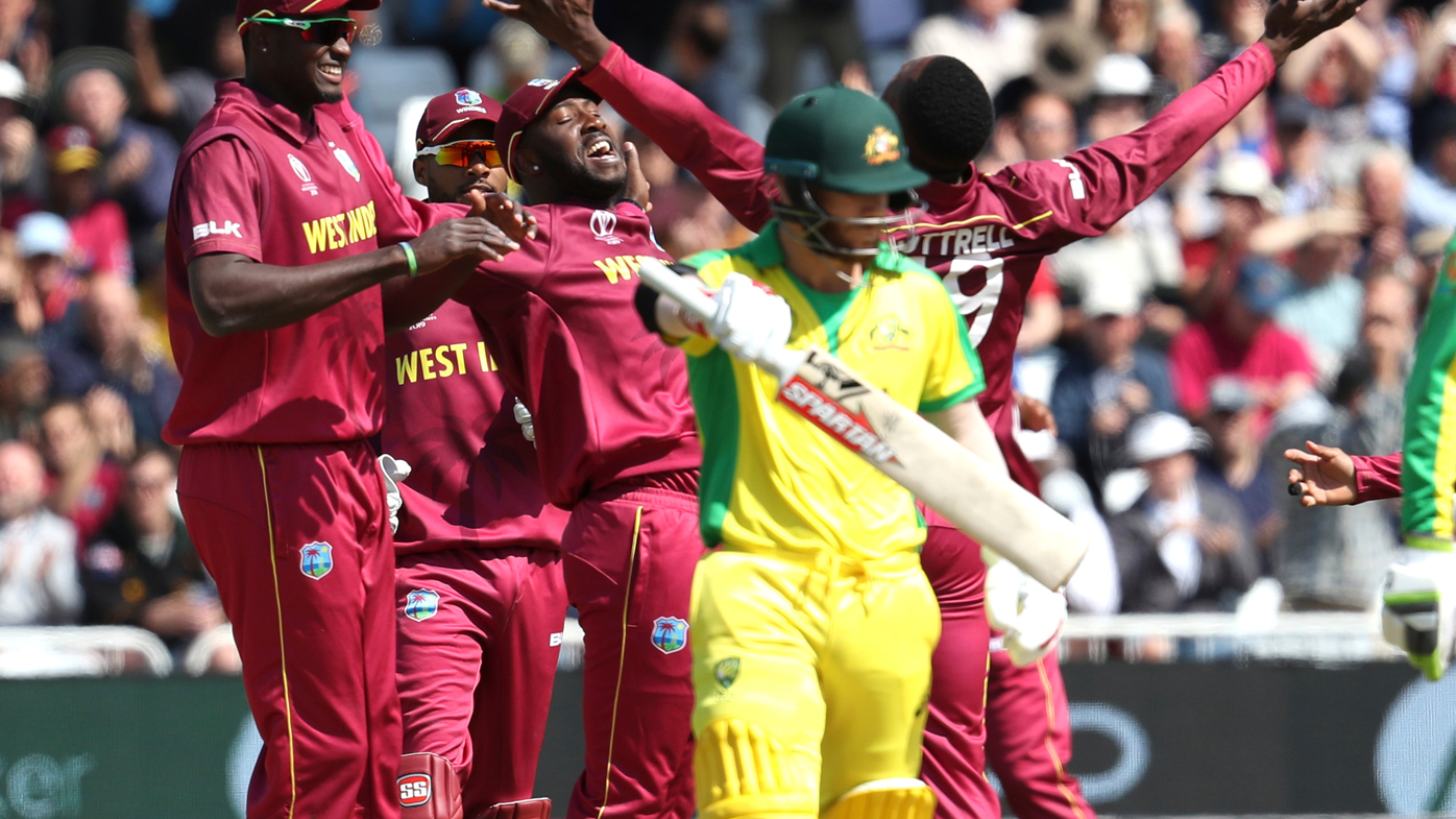 Australia top order crumbles under West Indies bouncer barrage