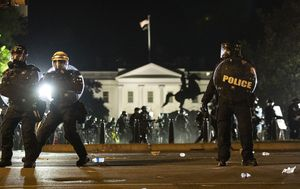 Gallery: Riot police form a line as demonstrators gather near the White House