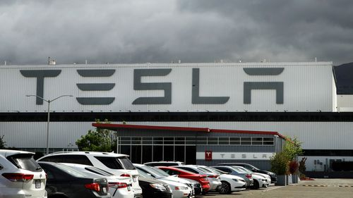 The Tesla plant in Fremont, California.