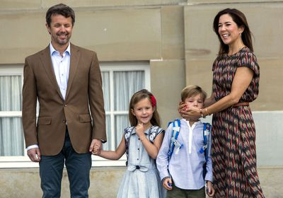 Princess Mary comforted her nervous son on his big day.