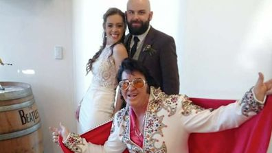 Australian couple say I don't to COVID-19 restrictions and wed under the watchful eye of Elvis