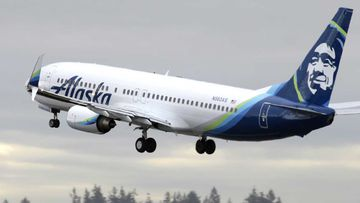 An Alaska Airlines plane. (AAP)