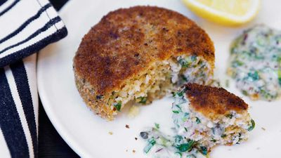 """Recipe: <a href=""""http://kitchen.nine.com.au/2017/06/06/11/46/mike-mcenearney-old-school-fish-cakes"""" target=""""_top"""">Mike McEnearney's old school fish cakes</a>"""