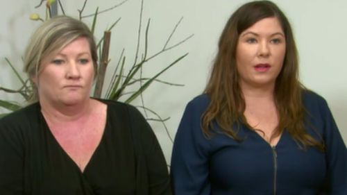 Maria and Katelyn Aylward spoke about their slain sister and brother-in-law today. (9NEWS)