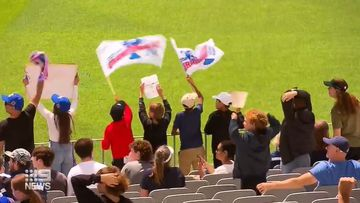 AFL fans find ways to show team pride from home