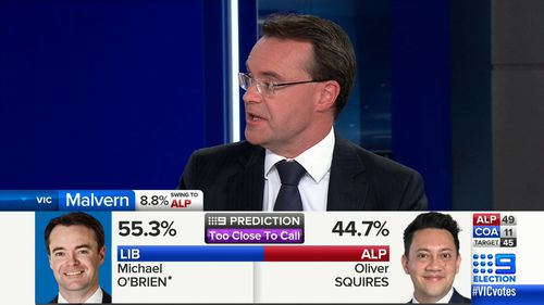 Mr O'Brien, who looks to claim the seat of Malvern, described the Labor Party's campaigning as negative.