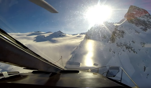 GoPro cameras captured the moment a chopper collided with a light aircraft while flying over the Italian Alps.
