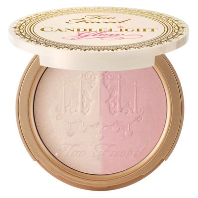 "<a href=""http://mecca.com.au/too-faced/candlelight-glow/V-023122.html"" target=""_blank"">Too Faced Candlelight Glow in Rosy Glow, $44.</a>"