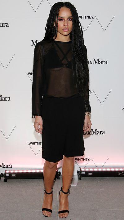 Wearing Max Mara.