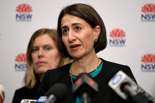 NSW Chief Health Officer Dr Kerry Chant (left) and Premier of NSW Gladys Berejiklian