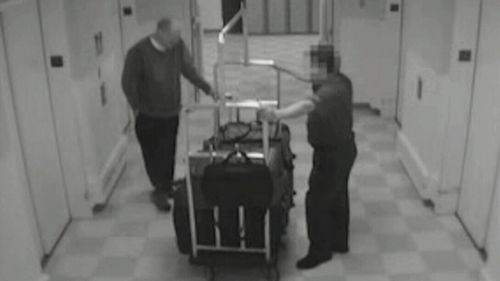 Paddock asked the bellman to ride the service elevator with his bags, which is not an uncommon practice. (Supplied)