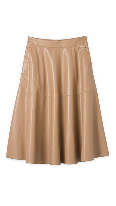"<a href=""http://www.countryroad.com.au/shop/woman/clothing/skirts/60179444/Leather-Look-Dirndl-Skirt.html"">Leather-Look Dirndl Skirt, $99.95, Country Road</a>"