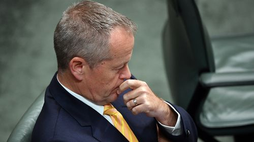 "Labor leader Bill Shorten said the government was ""too scared to turn up to parliament""."