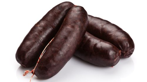 """The butcher used a stick of black pudding """"as a battering ram"""". (Getty)"""