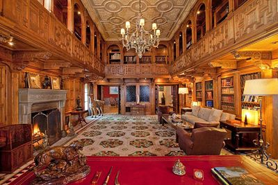 It contains its own opulent library.